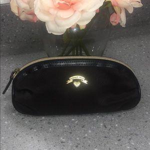 Victoria's secret zipper makeup cosmetic bag case